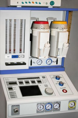 Complete medical air device station in hospital Stock Photo - 1989030