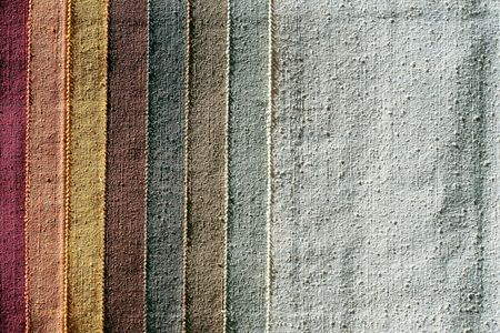 picker: Color palette sample picker of texture fabrics  Stock Photo