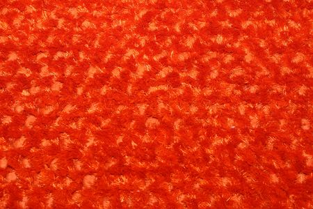 Red  carpet made from natural merino wool photo