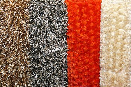 Shag rag carpets made from natural wool  photo