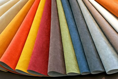 Color palette sample picker of leather material  photo