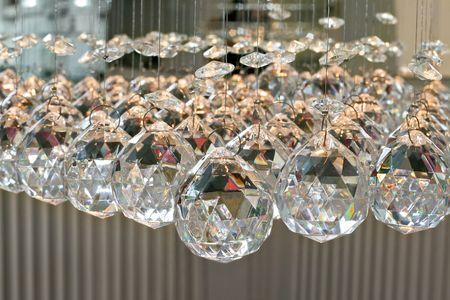Bunch of diamond style luxury crystal balls
