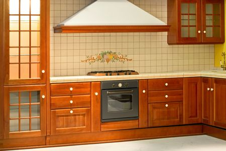 Big and new traditional look wooden kitchen photo