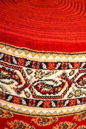 Cream colored cowhide rug