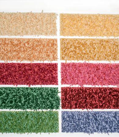 Color palette picker of carpet textile fabrics  photo