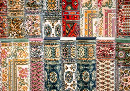 oriental rug: Traditional Persian carpets made from natural wool  Stock Photo