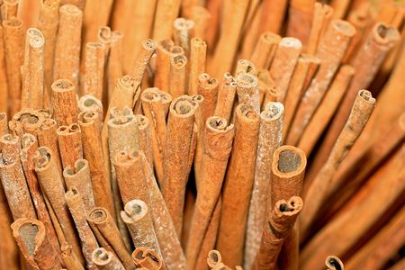 Close up shot of cinnamon aromatic flavour photo