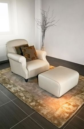 classics: Classics armchair with pillows and arm rest