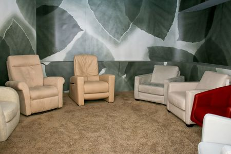 Bunch of classics armchairs with massage facilities Stock Photo - 2163235