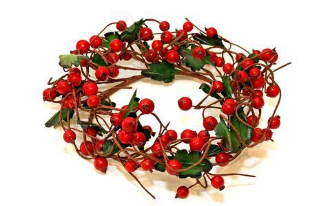 briar: Decorative Christmas wreath made from briar branch