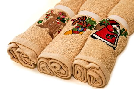 Tree soft and clean Christmas towels roll photo