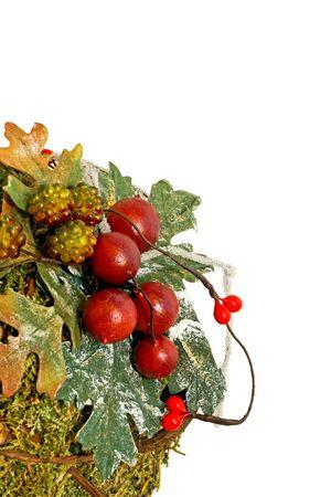 Natural organic traditional Christmas seasonal holiday decoration  Stock Photo - 2207889