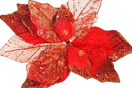 speckles: Red leafs with lot of shinny speckles Stock Photo