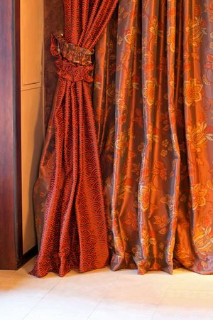 Detail of curtains made from finest velvet Stock Photo - 2366140