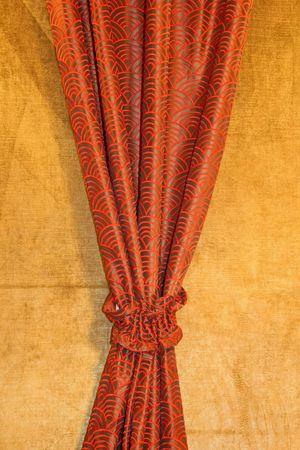 finest: Red drapery made from finest velvet fabrics
