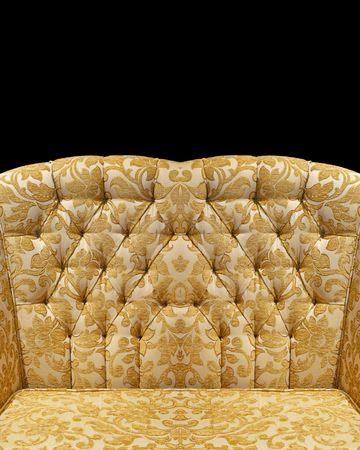 upholster: Antique golden floral upholster pattern chair back