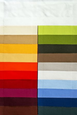 color chart: Decorative and fashion textile cloth color chart