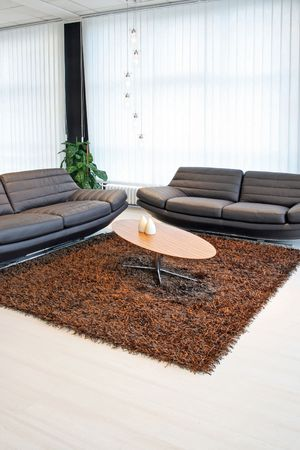Living room with two sofas and table Stock Photo - 2512663