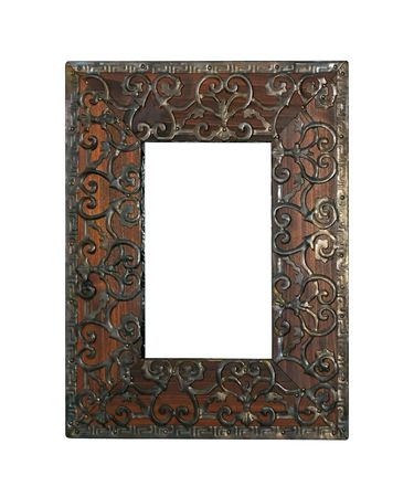 ironwork: Traditional Islamic culture engraved ironwork photo frame