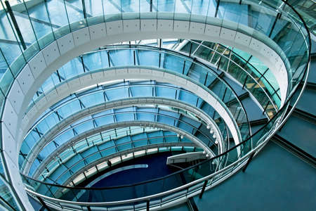 Oval stairway in the middle of office building Stock Photo - 2850730