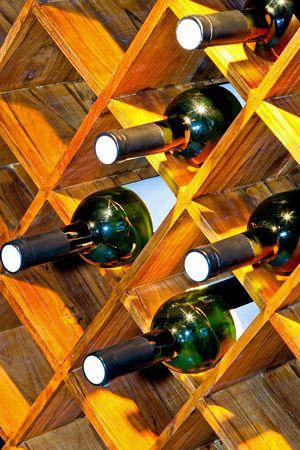 wino: Close up shot of big vine shelf