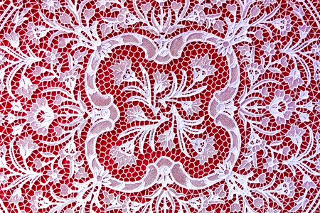 White lace texture handmade in retro style Stock Photo - 7228121