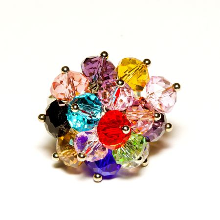 bijoux: Colorful bijoux cocktail ring with sparkling rocks