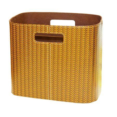Leather newspaper and magazine basket  Stock Photo - 7388396