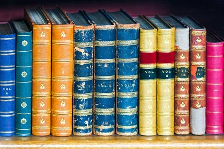 Old and bad condition books at library Stock Photo - 7475074