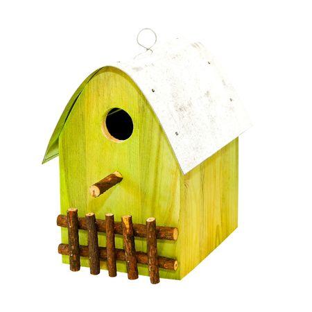 maison oiseau: Cabane ? oiseaux en bois Banque d'images