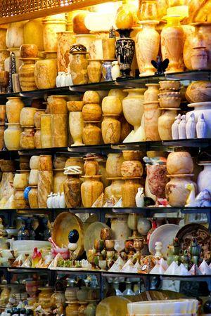 khan: Souvenir shop in Cairo on Khan el Khalili market Stock Photo