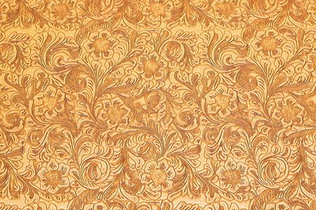 Texture of wooden carved floral ornamental board Stock Photo - 7751579