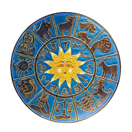 sagitario: Zodiac con sol aislado  Foto de archivo