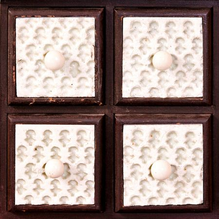 Close up shot of four ceramic drawers Stock Photo - 8132843