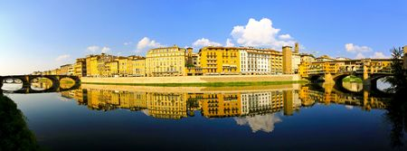 River bank of Arno at Florence Tuscany   photo