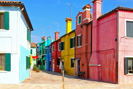 Old retro Mediterranean street with colorful houses Stock Photo - 8323680