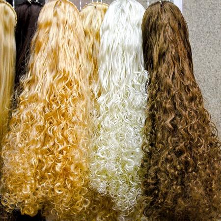 kinky: Close up shot of kinky hair wigs