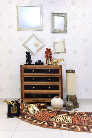 Moroccan style corner with oriental furniture and ornaments Stock Photo - 8375895