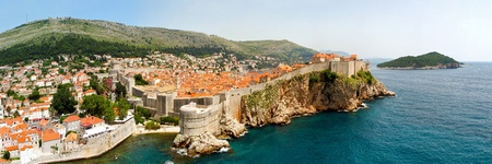 Panoramic aerial of old Dubrovnik walls Stock Photo - 8376152