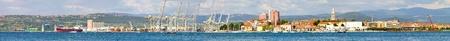 Panoramic shot of Koper port with cargo terminal  Stock Photo - 8459634