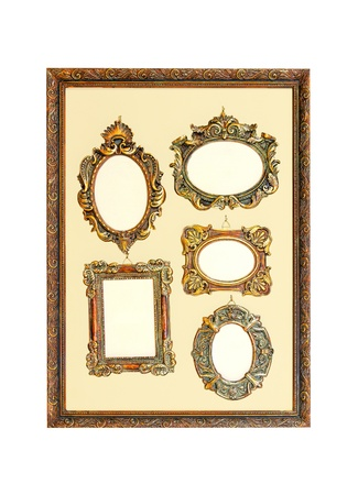 Vintage style frames isolated included clipping path  photo