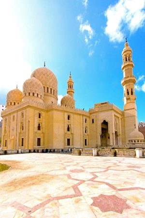 alexandria: Exterior of old mosque in Alexandria  Stock Photo