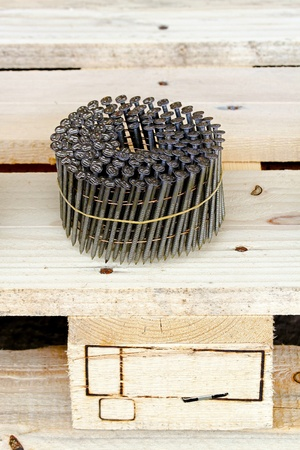 Bunch of quality nails for pallet production Stock Photo - 8474853
