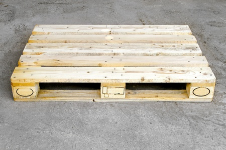 Transportation wooden euro pallet in standard dimensions  Stock Photo - 8474867