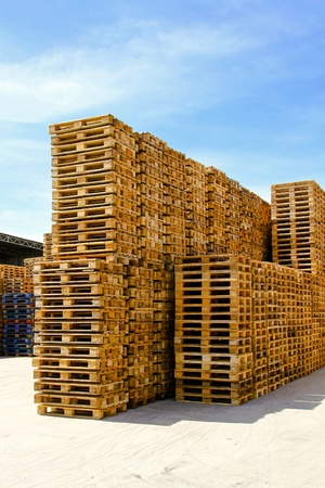 Pallets for cargo and logistic at warehouse Stock Photo - 8474849