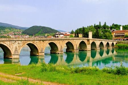 Mehmed Pasha Sokolovic bridge in Visegrad at Drina river
