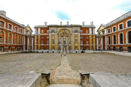 greenwich: Courtyard of Greenwich University building in East London  Stock Photo