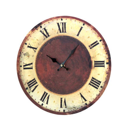 Retro grunge clock isolated Stock Photo - 8602319