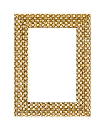 Gold metal frame isolated Stock Photo - 8646787