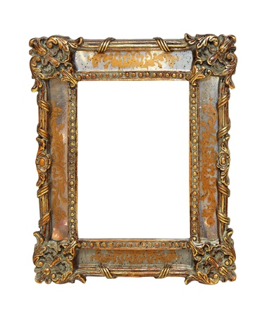 Antique decorative frame isolated photo